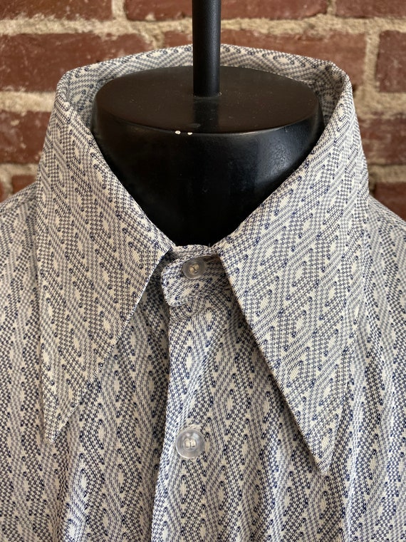 70s Men's Geometric Print Shirt