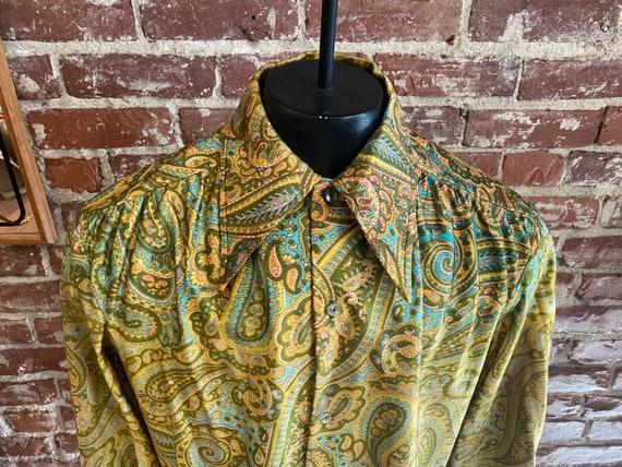 70s Men's Psychedelic Paisley Shirt