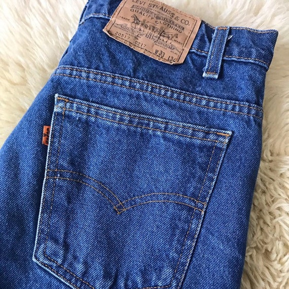"70s Men's Levis Strait Leg Jeans 33"" Waist by 31.5"" Inseam"