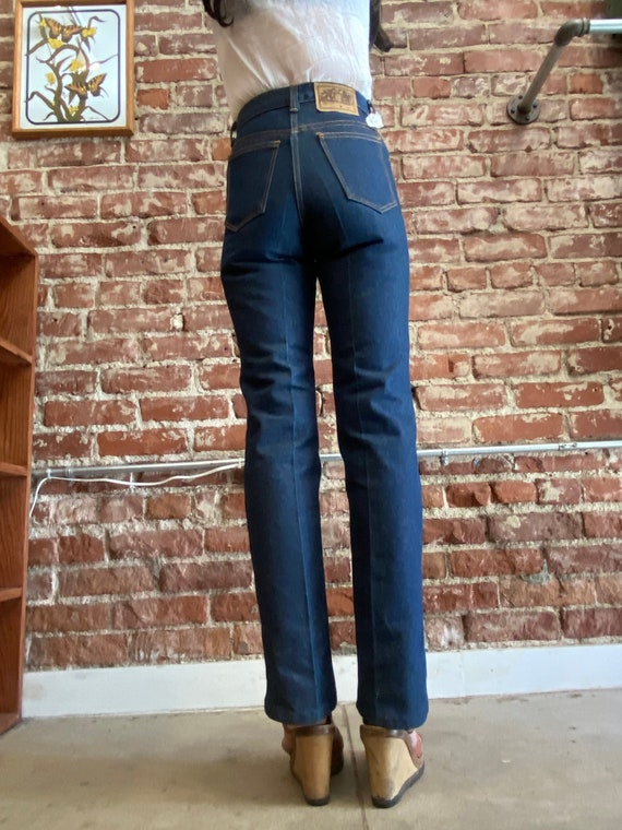 70s High Waist Dead Stock Strait Leg Jeans Size Pe