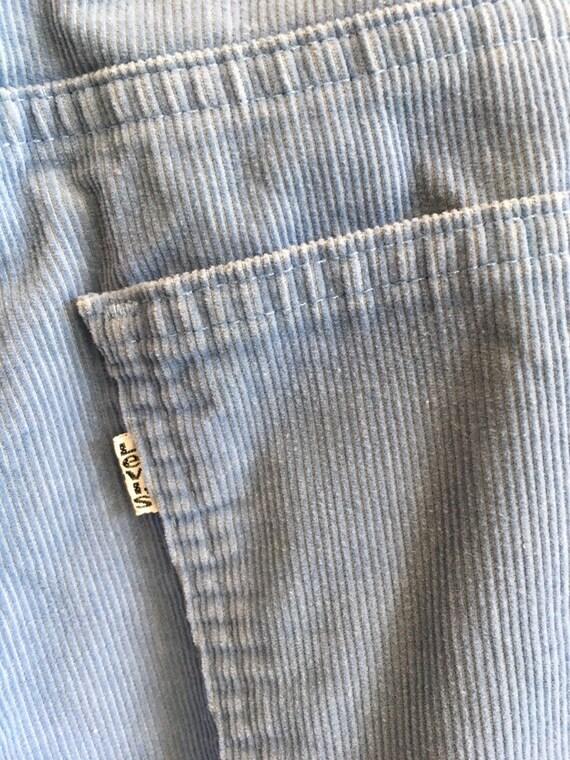 "70s Men's Levi's 646 Cornflower Blue Corduroy Jeans 32""/33"" Waist by 30"" Inseam"
