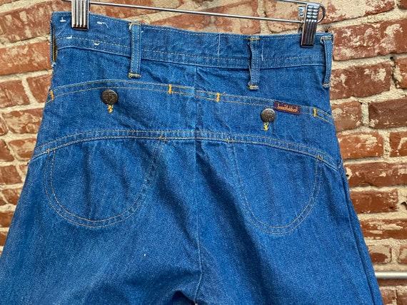 Rare 70s Landlubber Dark Wash 100% Cotton Wide Le… - image 10