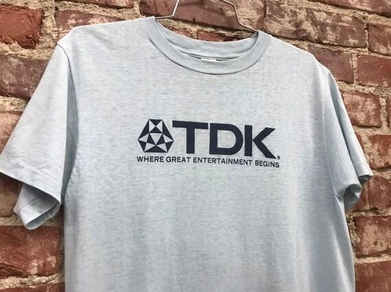 Reserved for Jonathan. Do not buy. 70s TDK Vintage Tee Shirt