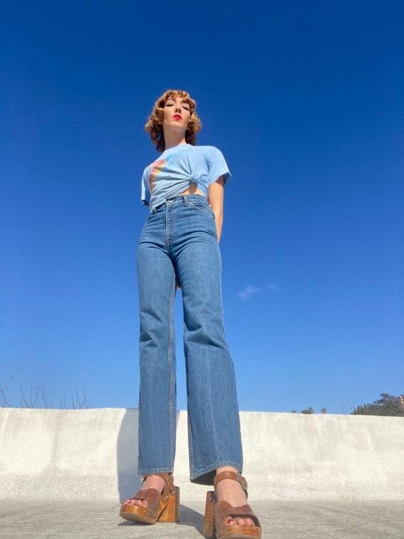 70s Levi's High Waist Strait Leg Denim Jeans