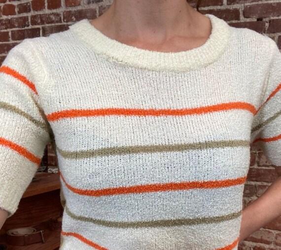 70s Mod Striped Knit Shirt