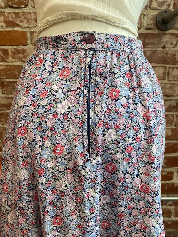 Early 80s Gunne Sax Cotton Prairie Skirt - image 6