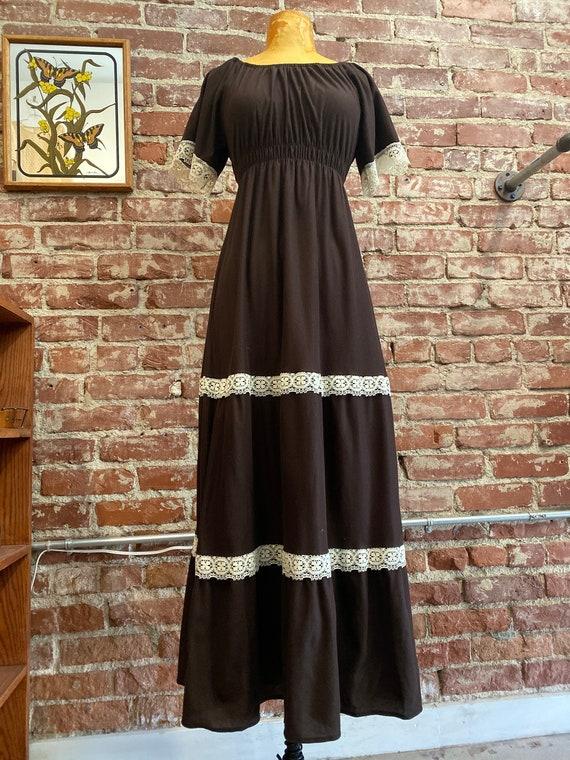 70s Espresso Lace Gown