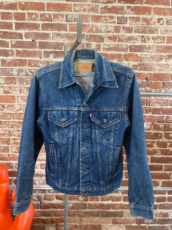 "70s Men's Levi's Dark Denim Jacket 34"" Chest"