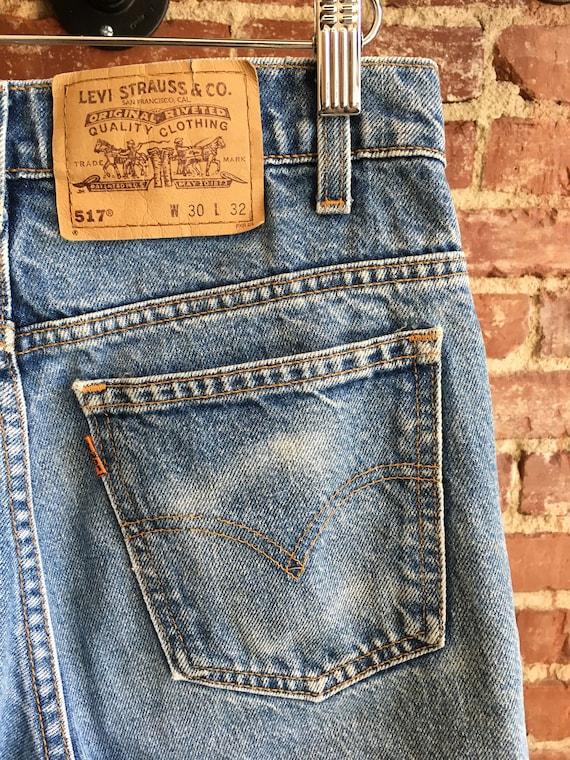 "70s Levi's 517 Strait Leg Jeans 29"" Waist by 31"" Inseam"