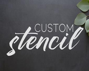 Custom stencils etsy diy custom stencil vinyl stencil wood sign do it yourself custom solutioingenieria Image collections
