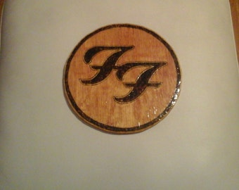 Foo Fighters Wood Plaque
