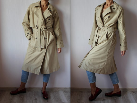 Warm Beige Trench Coat Women's Beige Sand Coat Vin
