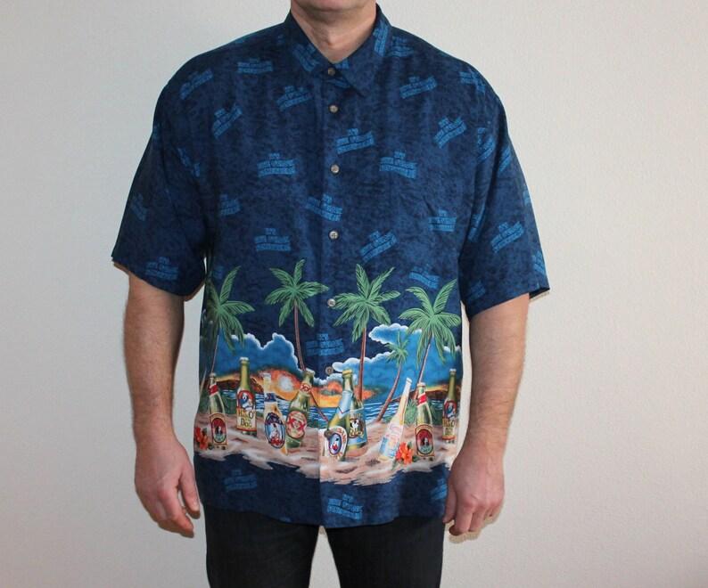 b96d40e3 Men's Vintage Hawaiian Shirt Men Shirt Palmwave Surf | Etsy