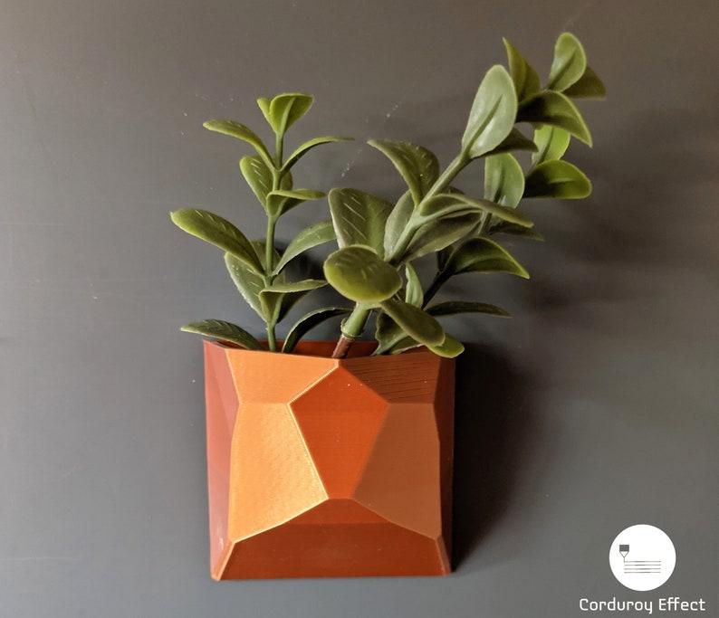 Refrigerator Mount Fridge Mount Magnetic Geometric Shape Succulent Planter Pot