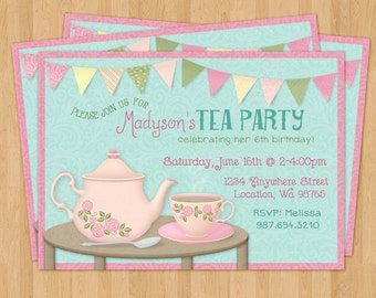 Teacup Invite Etsy