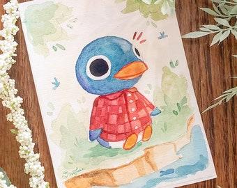 Animal Crossing - Roald - Watercolor Mini Print