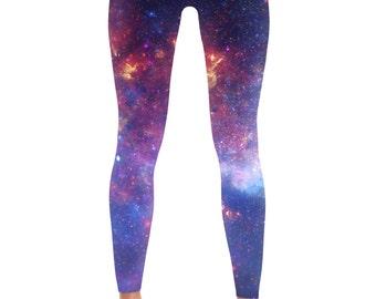 Cat Sky Purple Milky Way Yoga Tights Short Running Pants Workout