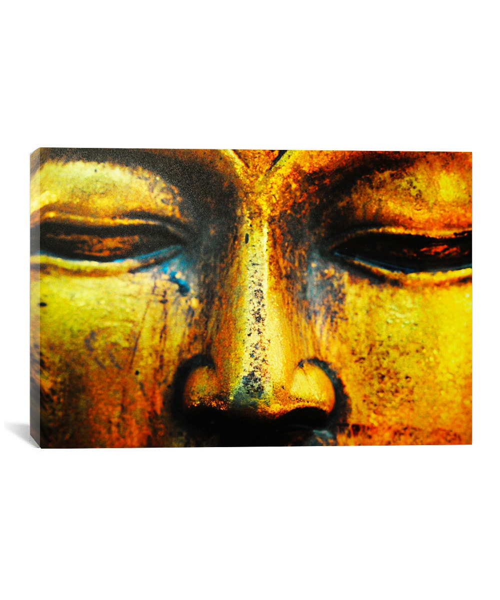 Buddha Gold Canvas Print - Buddha Wall Art, Buddhism Canvas Decor ...