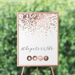 Rose Gold Wedding Decor Wedding Hashtag Sign Printable Wedding Instagram Sign Hashtag Wedding Sign Share the Love Sign PDF Digital Download