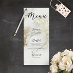 Elegant Wedding Decor Gold Marble Wedding Dinner Menu Cards Printable Romantic Wedding Menu Sign Marble Geode Texture Party Menu Wedding PDF
