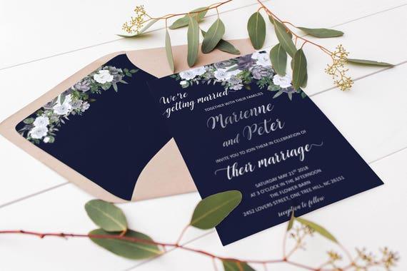 navy blue wedding envelope liner 5x7 envelopes boho envelope etsy