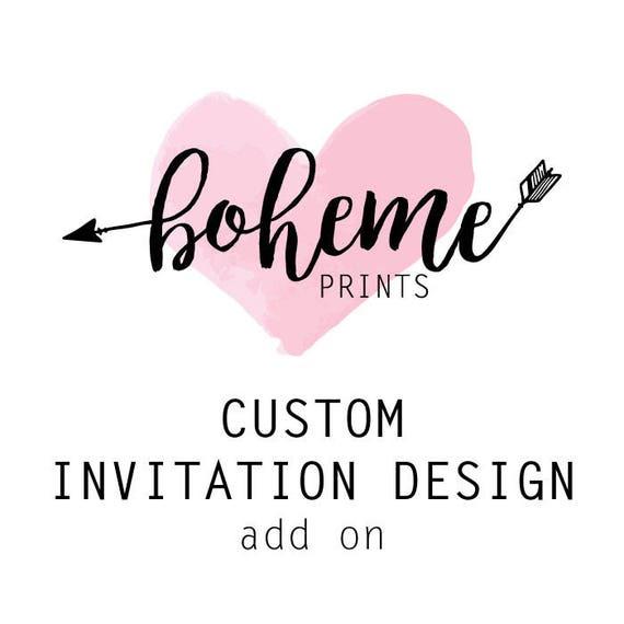 Custom Invitations Custom Invitation Design Bespoke Invitation Etsy