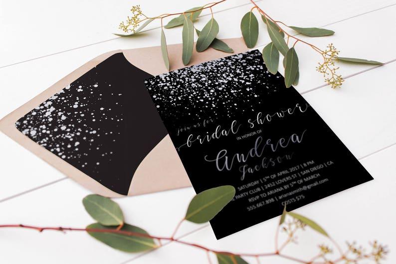 Silver Envelope Liner Silver Confetti Wedding Envelope Liners Printable Silver Glitter Envelopes DIY Bride Wedding Stationery DIY Wedding