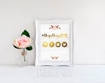 Printable Wedding Hashtag Sign Wedding Instagram Sign Share the Love Sign Rustic Wedding Sign Printable Garden Wedding Sign Digital Download