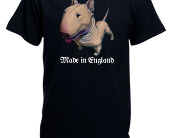 English Bull Terrier Made in England Mens Present Gift   T-shirt