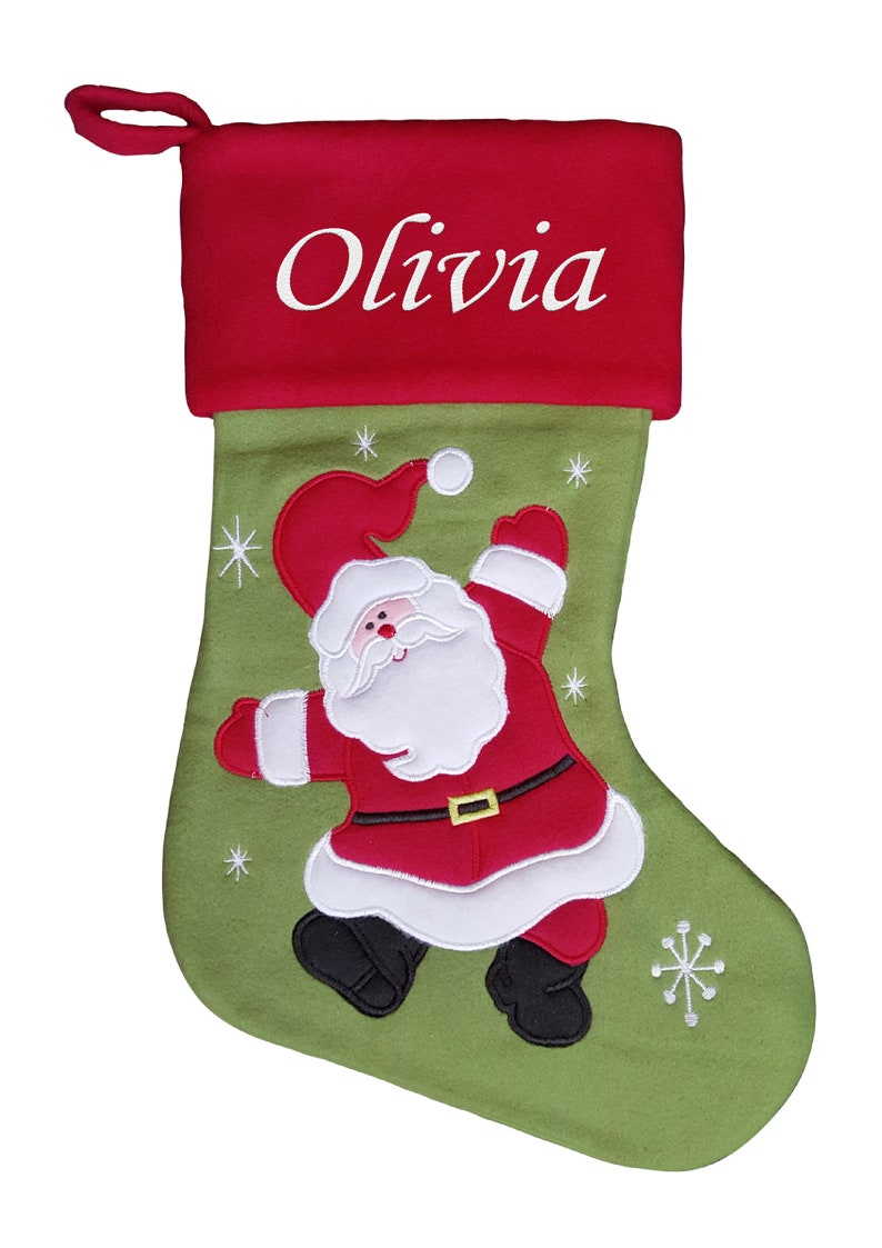 Personalised Christmas Stocking Kids Luxury Embroidered Xmas Stockings Sack Boy Girl Santa 2018 Fully Lined Santa