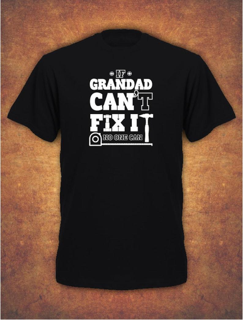 If Grandad Can/'t Fix It Birthday Christmas Xmas Present  Mens Hoodie Black