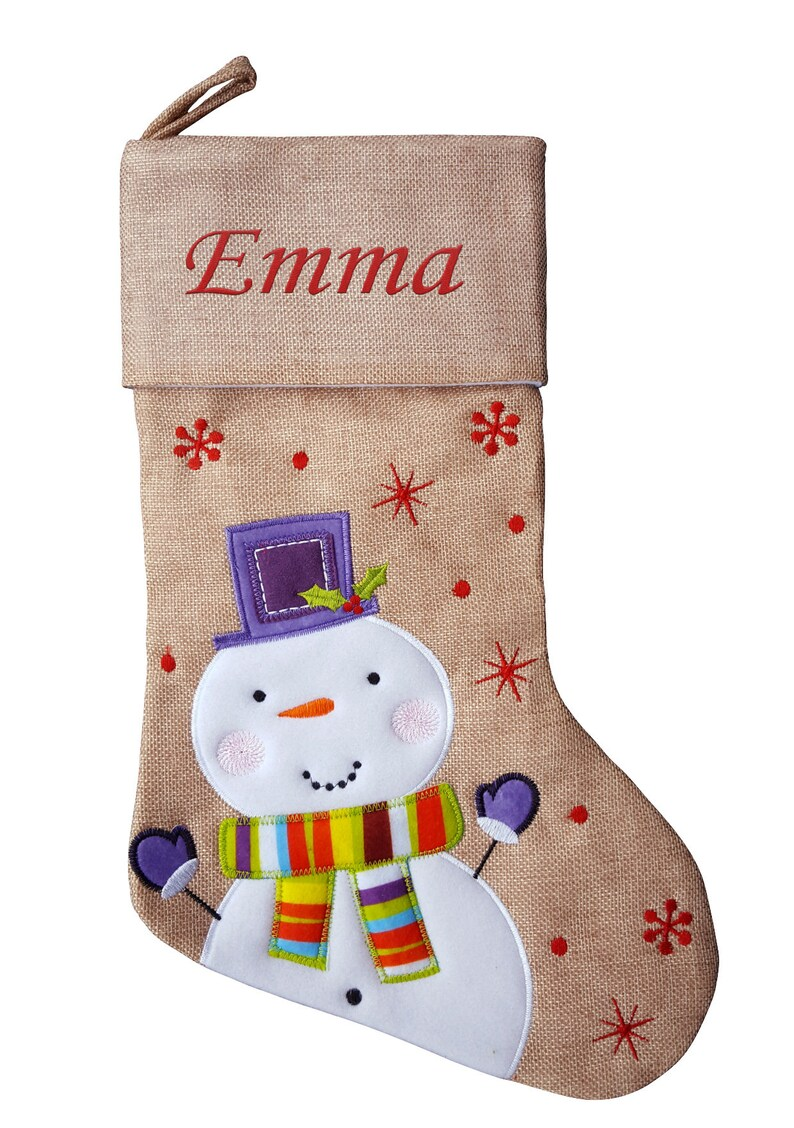 f596325f1aa3d Personalised Christmas Stocking Kids Luxury Embroidered Xmas