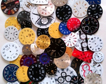 Steampunk Watch Faces Dials 50 pcs Watch Parts Jewelry Making Altered Art Supply