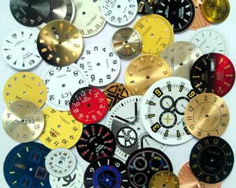 35 pcs Vintage Steampunk Wrist Watch Dials Faces Watch Parts Jewelry Making Altered Art Supply