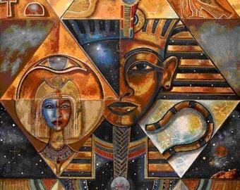 Ancient Egypt 2 - Egyptian Art - Handmade Oil Painting On Canvas