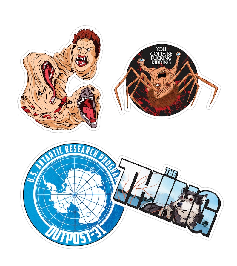 The Thing Horror Sticker Pack Etsy