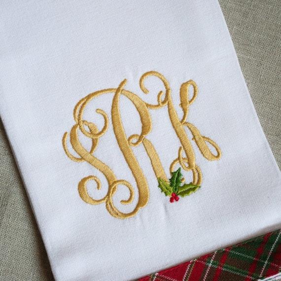 Christmas Kitchen Towel, Christmas Towel, Kitchen Dish Towel, Christmas  Dish Towels, Embroidered Kitchen Towel, Christmas Embroidered Towel