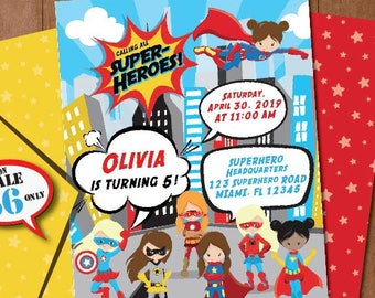 superhero birthday invitation self editing printable superhero etsy
