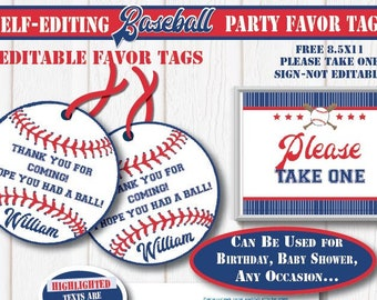 picture about Free Printable Baseball Tags called Baseball want Etsy