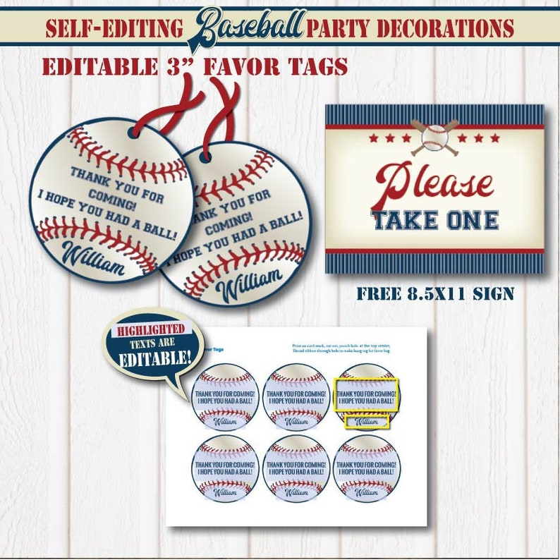 photograph about Free Printable Baseball Tags titled SELF-Modifying All Star Baseball Birthday Like Tags-Printable All Star get together Like Tags-Boy or girl Shower-Match Get together-Initial Birthday-AnyAge-A137-6