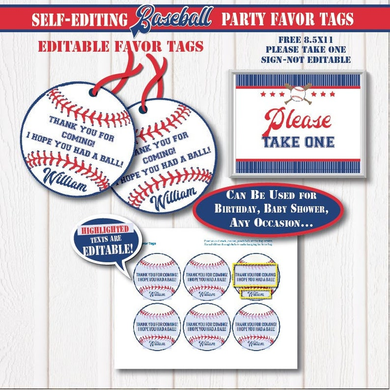 photo about Free Printable Baseball Tags titled SELF-Modifying All Star Baseball Desire Tags-Printable Baseball Birthday-Baseball Get together-All Star-Game Bash-Little one Shower-Reward Decoration-A163-5