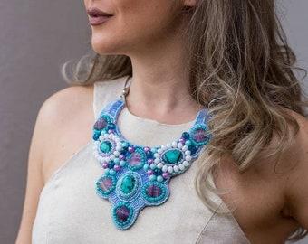 Ocean Blue Statement Necklace