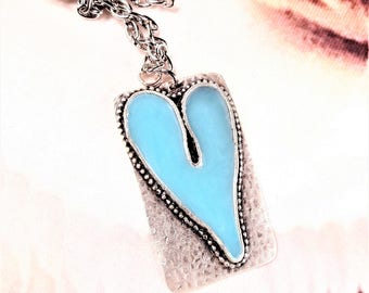 Blue Heart Necklace