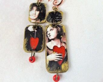 Declaration of love earrings