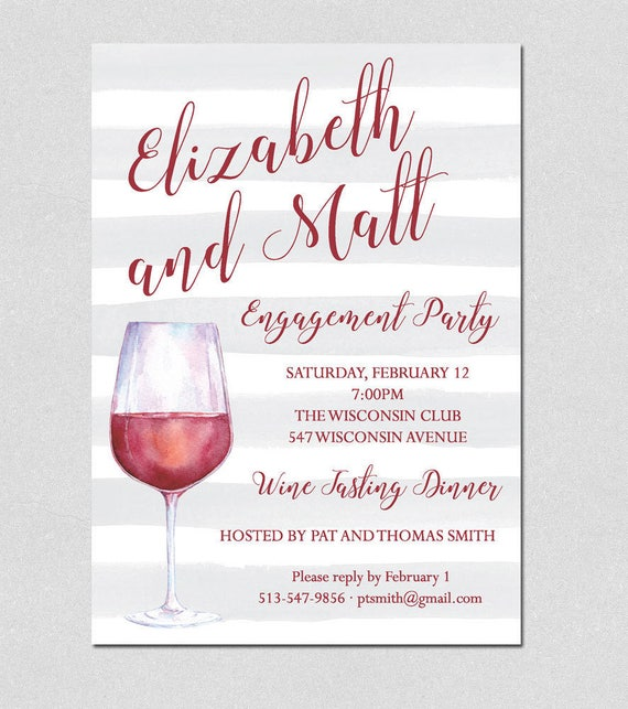 cocktail party invitation wine tasting party invitation etsy