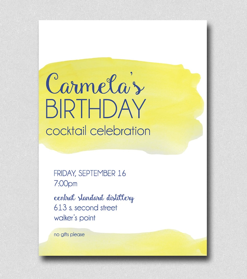 Cocktail Party Invitation Watercolor Invitation Fall Cocktail Party Bachelorette Party Invite Birthday Party Invitation