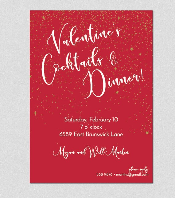 Printable Valentine S Invitation Printable Valentine Etsy