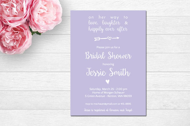 120450f5df8 Bridal Shower Invitation love laughter   happily ever after