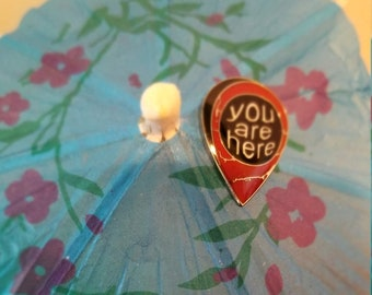 You are here map marker enamel lapel pin