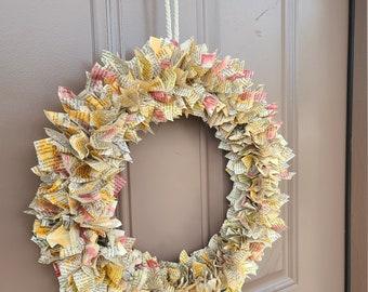 Fall Literary Paper Wreaths